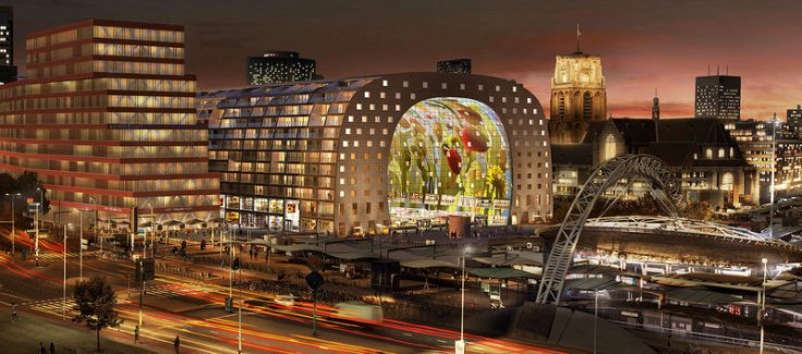 Market hall, Rotterdam (source)