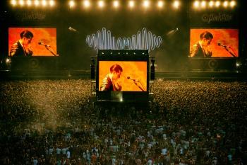 Overzichtsfoto Pinkpop terein tijdens Arctic Monkeys op Pinkpop